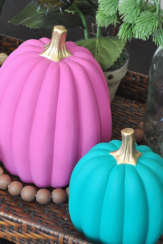 Colorful DIY Boho Chic Painted Pumpkins
