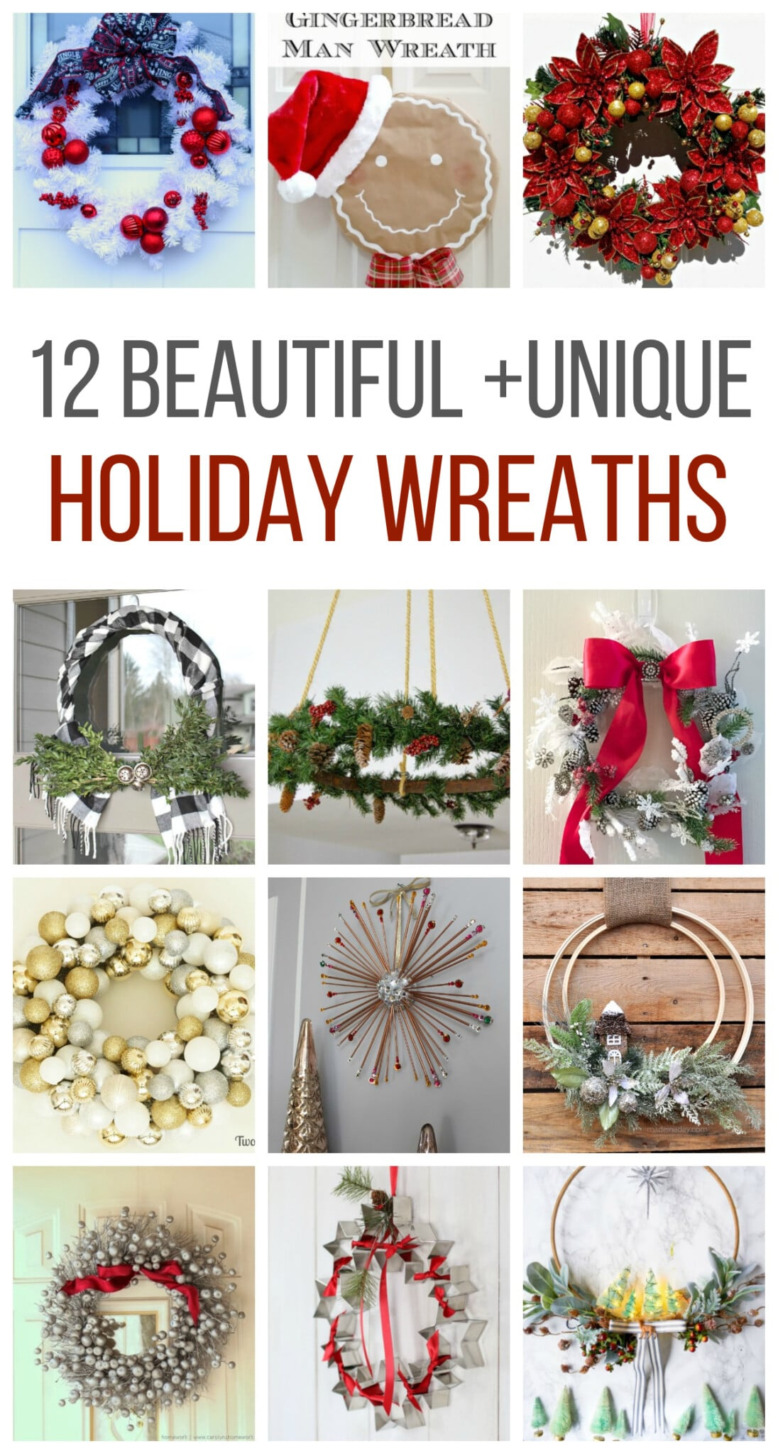 12 Beautiful and Unique Holiday Wreaths