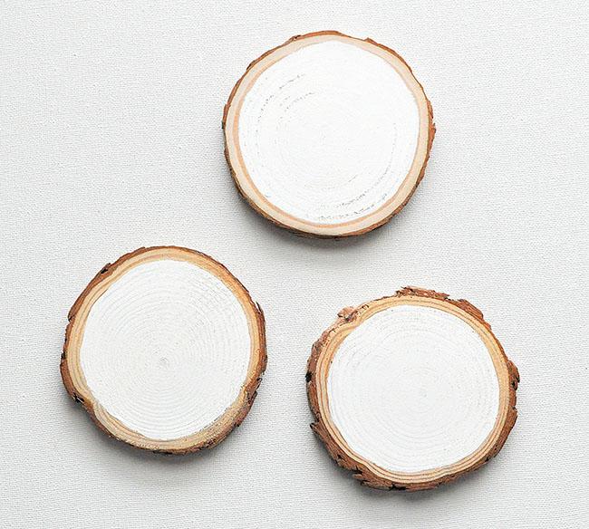 paint wood slice white