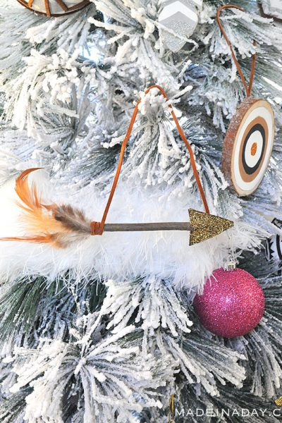 Leather Feather Arrow Ornaments