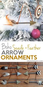 Leather Feather Arrow Ornaments 1