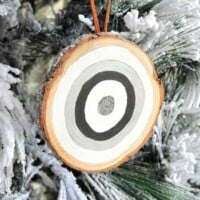 Frosted Glitter Bullseye Ornaments
