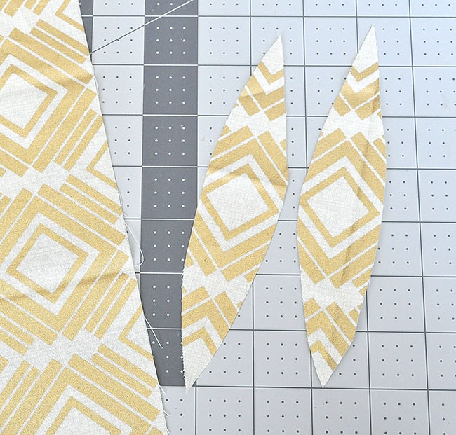 cut fabric into strips