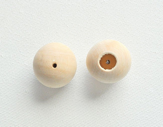 drill through a wood bead