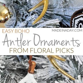 Gorgeous Antler Tree Ornaments Using Floral Picks 29