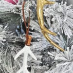 Sparkling Rustic Leather Feather Arrow Ornaments 2