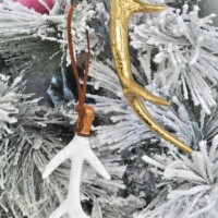 Gorgeous Antler Tree Ornaments Using Floral Picks