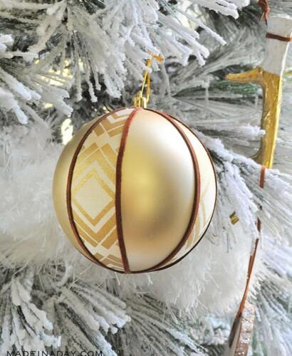 Rustic Boho Fabric Suede Tribal Ball Ornament 31