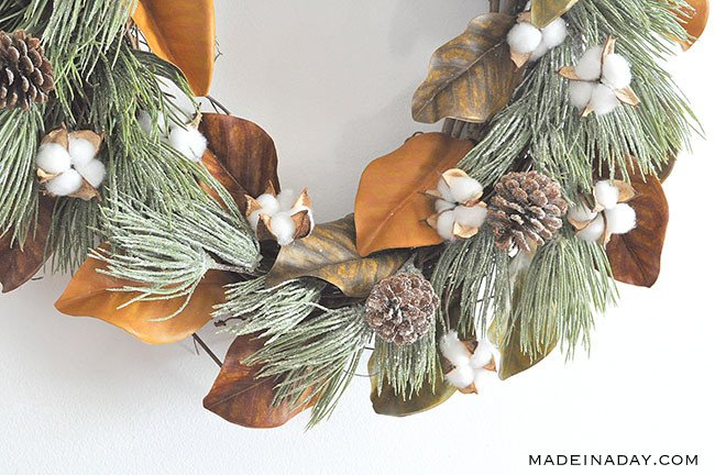 winter Farmhouse magnolia wreath
