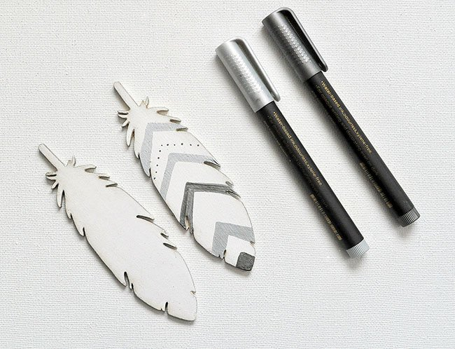 how to make feather ornaments