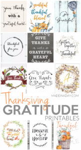 Perfect Thanksgiving Gratitude Printables 1