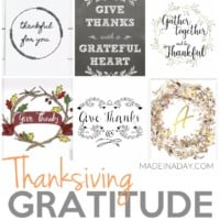 Thanksgiving Gratitude Printables