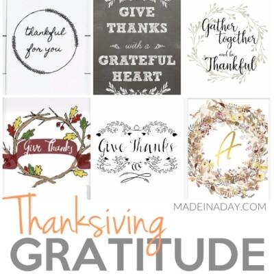 Thanksgiving Gratitude Printables