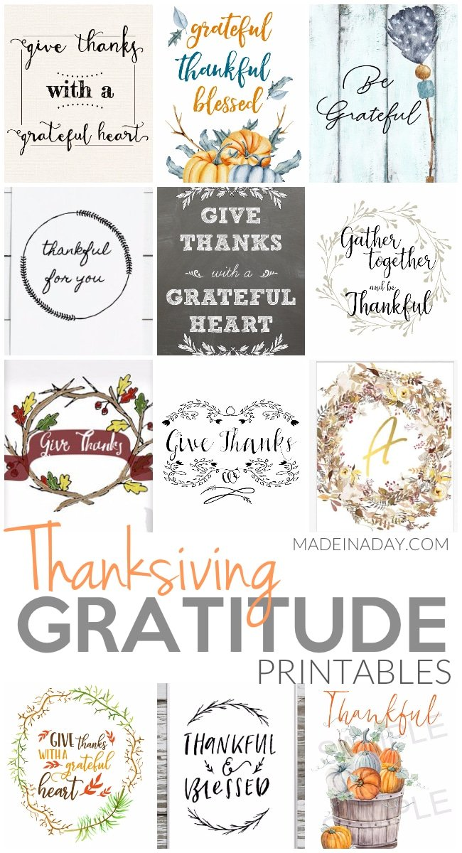 Thanksgiving Gratitude Printables, give thanks, Thanksgiving printables, Thank you printables, Thankful, grateful, #givethanks #Fall #printables