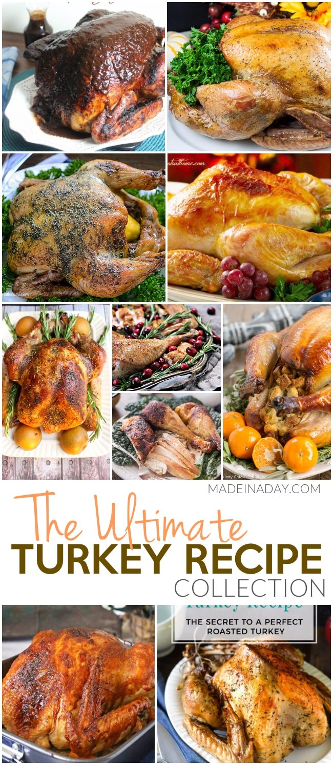 Ultimate #Turkey Recipe Collection, 12 ways to roast a turkey, #Thanksgiving turkey recipes, Moroccan turkey recipe, Apple Cider Brine, turkey #brine, honey brine, spatchcocked turkey, roasted turkey