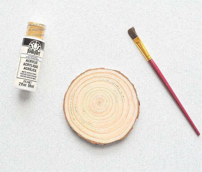 painted wood slice