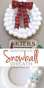 Winter Fun Snowball Wreath 1