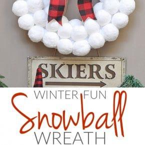 Winter Fun Snowball Wreath 1