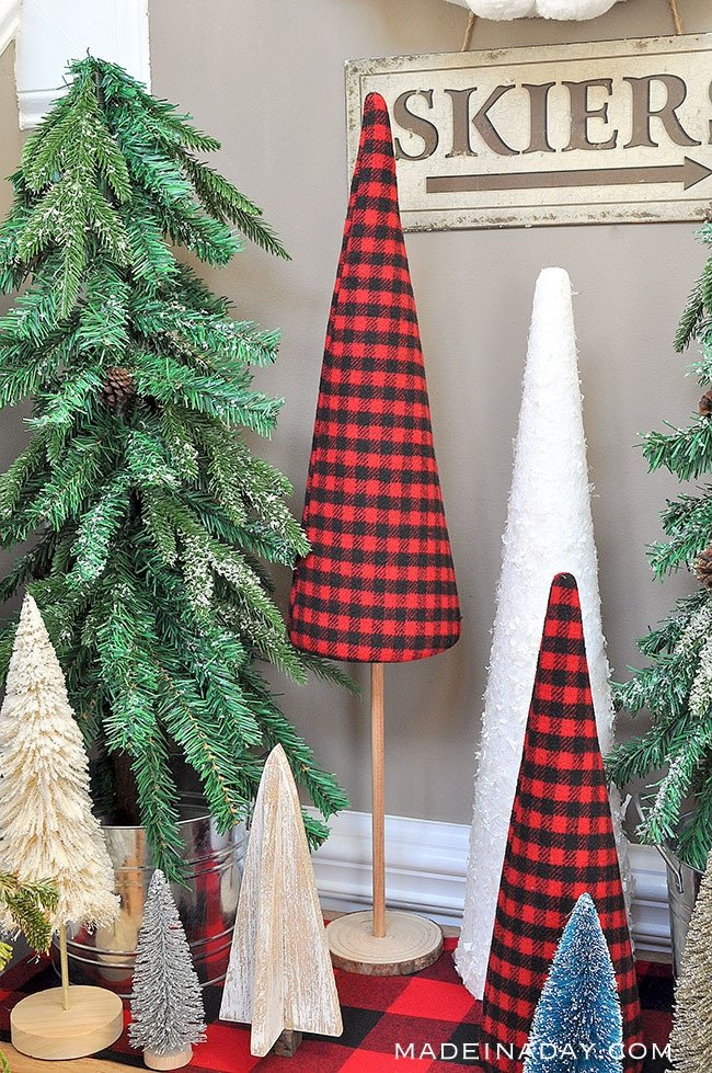buffalo plaid holiday trees