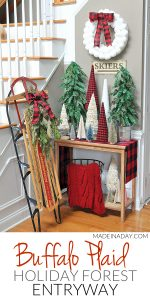 Adorable Buffalo Plaid Christmas Forest Entryway 1