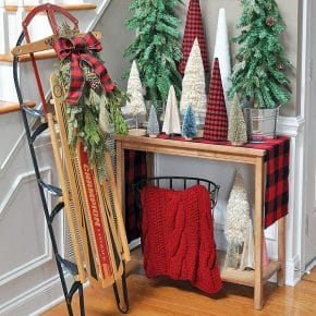 Adorable Buffalo Plaid Christmas Forest Entryway 29