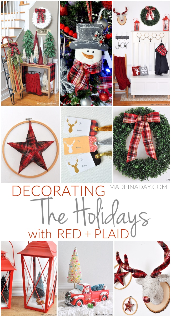 Handmade #Holiday #Crafts and Home Decor, #Ornaments, Buffalo Plaid, Chalkboard, Agate, Boxwood, Driftwood, Modern, Geometric, Boho, Peace Sign.