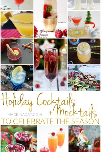 Holiday Cocktails + Mocktails to Celebrate the Season