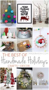 The Best Christmas Holiday Handmade Crafts + Decor 1