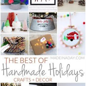 The Best Christmas Holiday Handmade Crafts + Decor 1