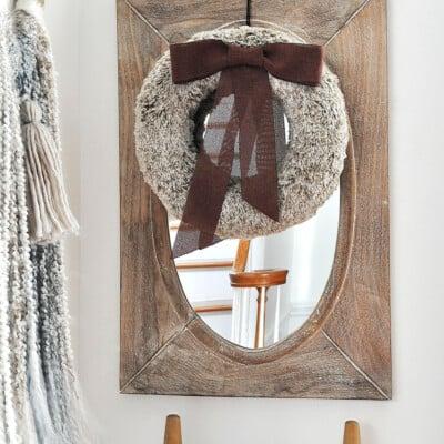 Rich Brown Faux Fur Wreath
