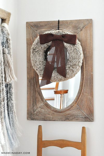 Rich Brown Faux Fur Wreath
