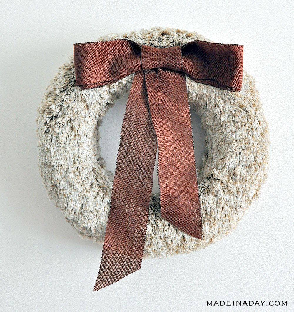 Rich Brown Faux Fur Wreath 37