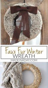 Rich Brown Faux Fur Wreath 1
