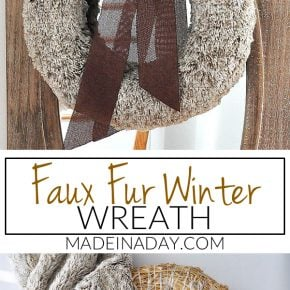 Rich Brown Faux Fur Wreath 29