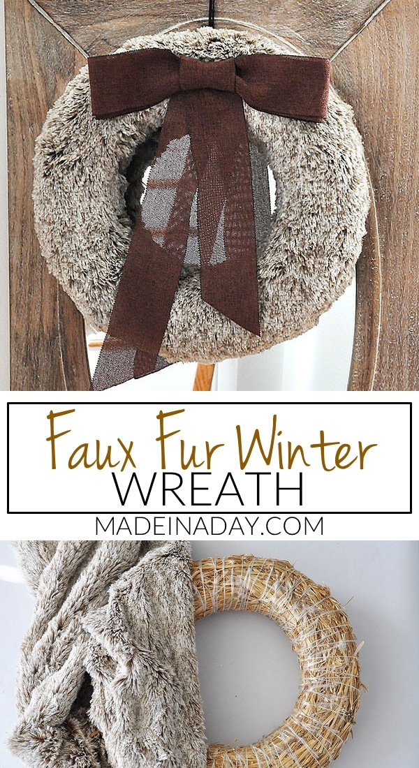 Rich Brown Faux Fur Wreath 38
