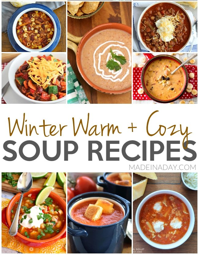 Winter Warm + Cozy Soup Recipes