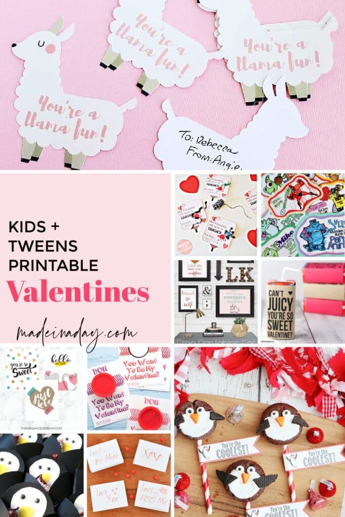 kids tweens valentines
