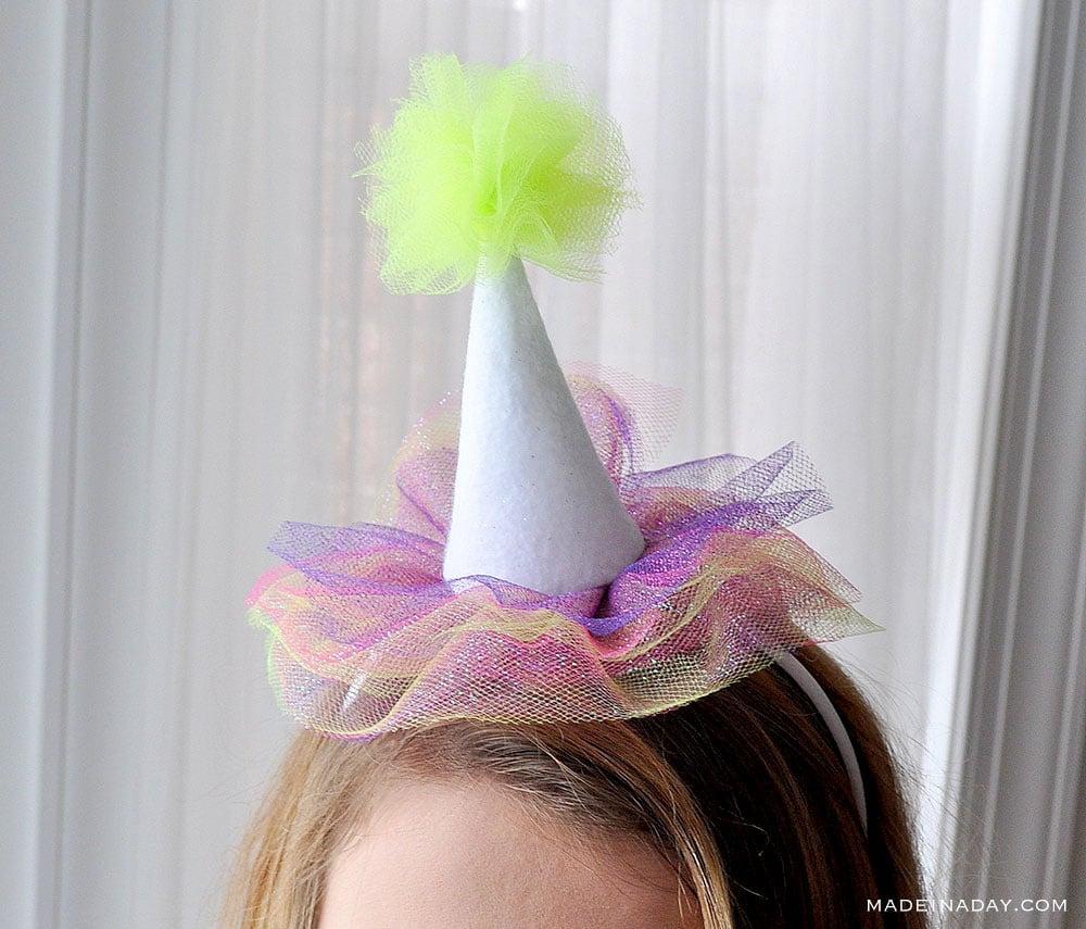 Mini Tulle Party Hat Headbands 14