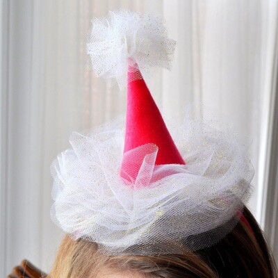 Mini Tulle Party Hat Headbands