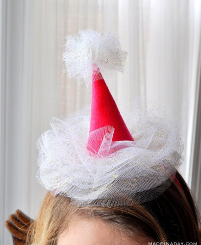 Mini Tulle Party Hat Headbands 31