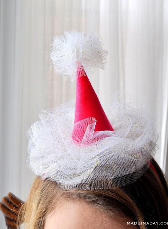 Mini Tulle Party Hat Headbands 34