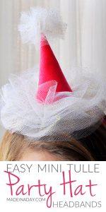 Mini Tulle Party Hat Headbands 1