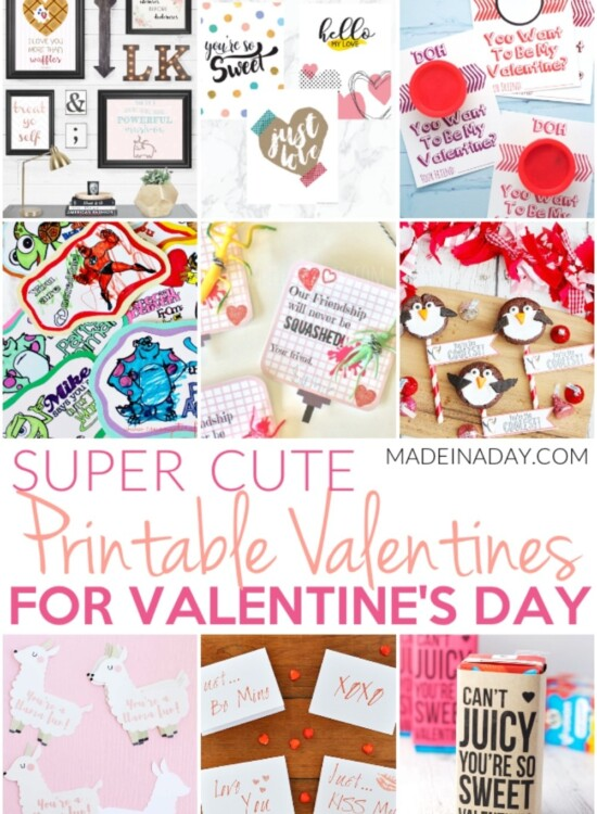 Super Cute Printable Valentines for Valentines Day 35