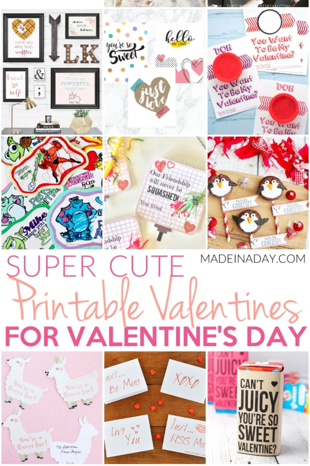 Super Cute Printable Valentines for Valentines Day