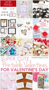 Super Cute Printable Valentines for Valentine's Day 1