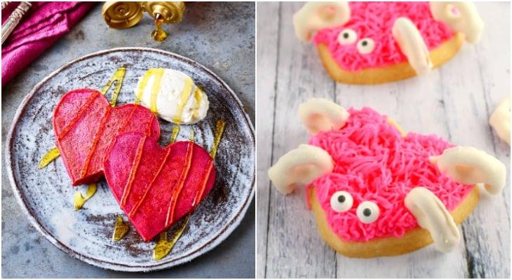 valentines treat for kids, beet pancakes