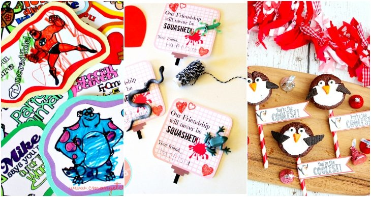 Bug valentines, penguin valentines, printable coloring valentines