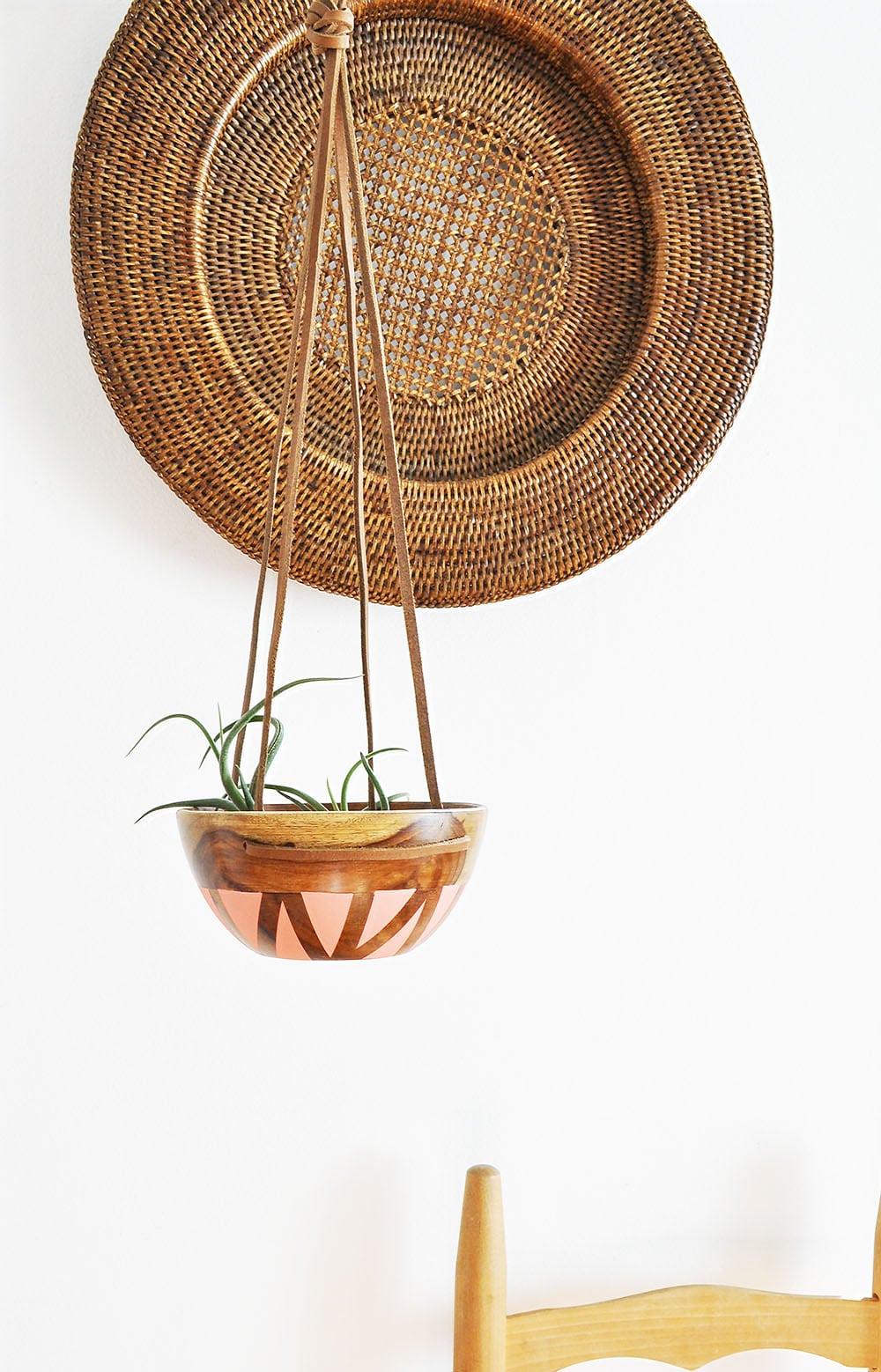 DIY leather wood planter