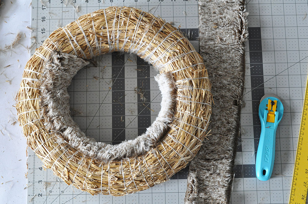 Rich Brown Faux Fur Wreath 32