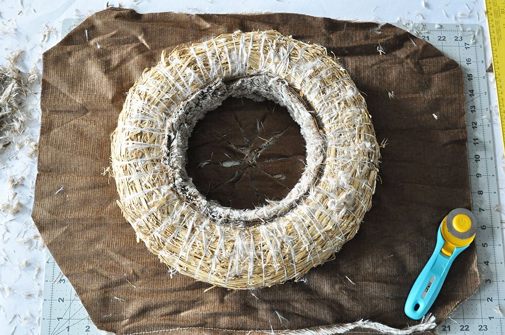 Rich Brown Faux Fur Wreath 34